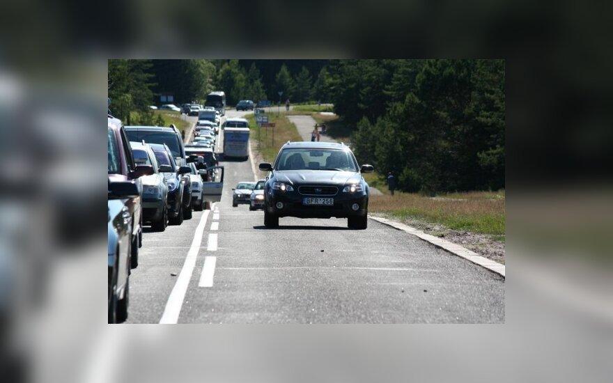 Kuršių nerija, Smiltynės g. ties II perkėla, 2010-06-28. 17.52 val.
