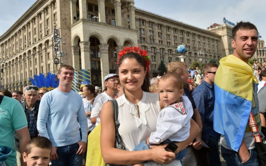 Ukrainian Independence Day in Kiev