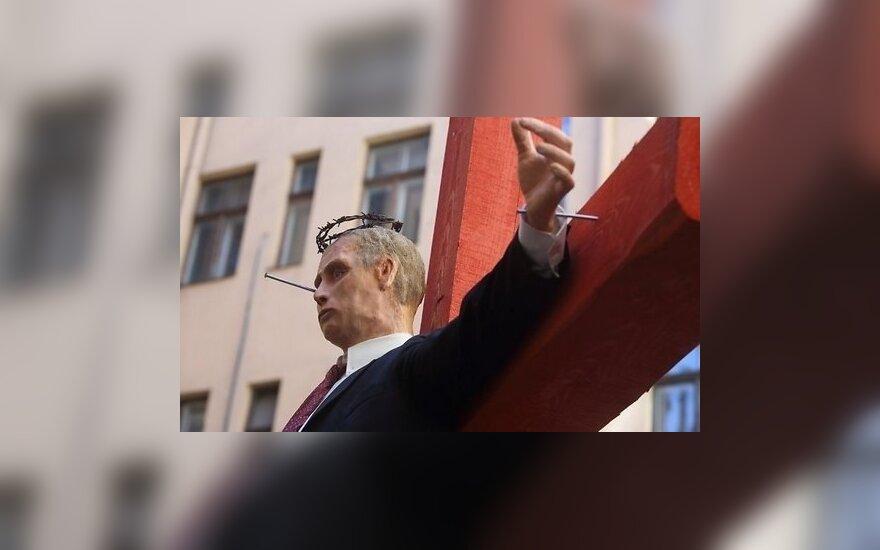 Art installation in Riga resembles Russian President Vladimir Putin