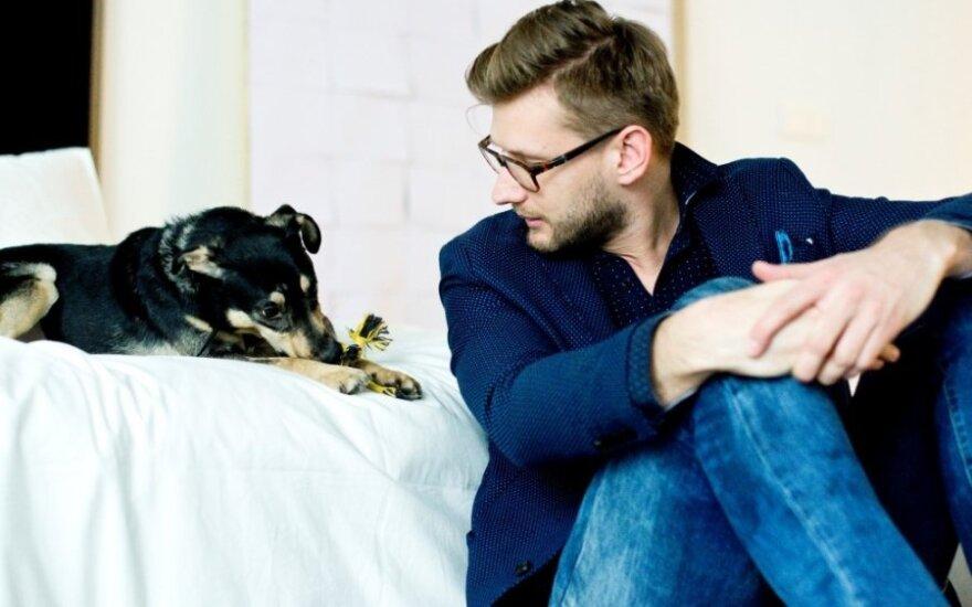 Alfas Ivanauskas apie priglobto šuns vardą: čia, matyt, likimo pirštas