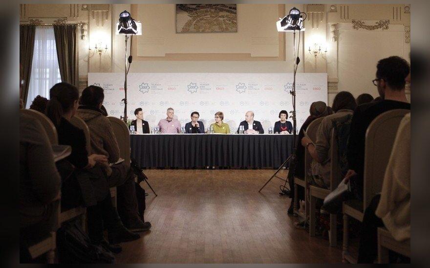 Spaudos konferencijos akimirka (A. Solomino nuotr.)