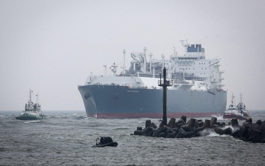 Į Klaipėdą plaukia naujas didelis dujų krovinys iš Norvegijos
