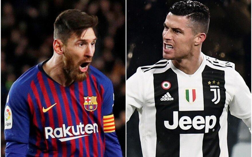 Lionelis Messi ir Cristiano Ronaldo (AFP/Scanpix ir Reuters/Scanpix nuotr.)