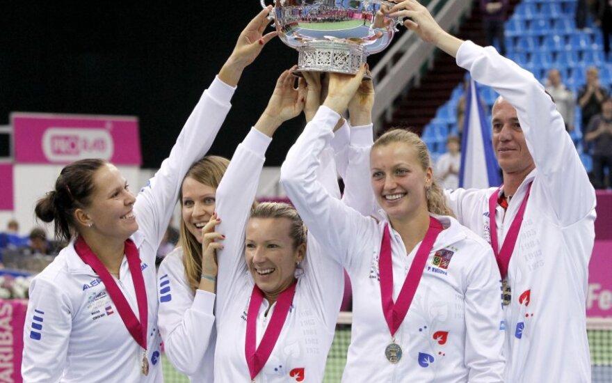 Čekijos moterų teniso rinktinė - iškovojo Federacijų taurę