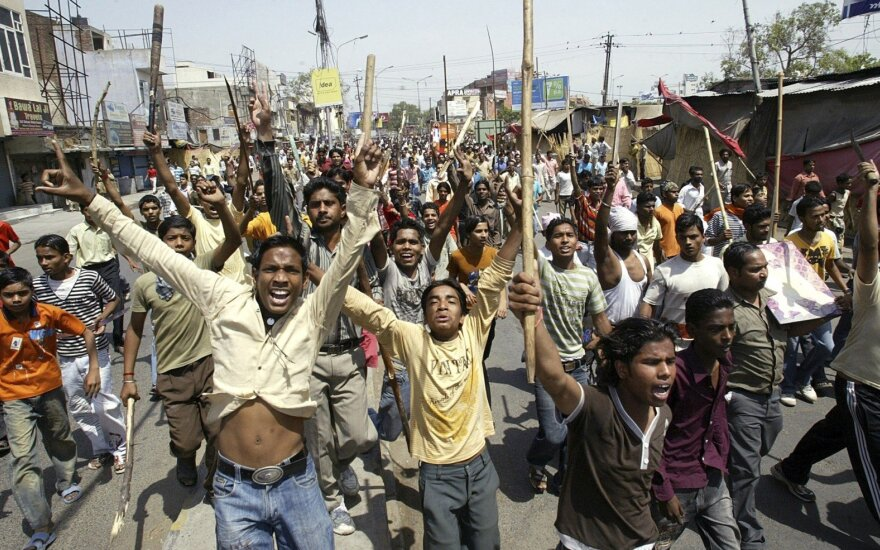 Indijos neliečiamųjų kastos protestas
