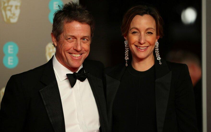 Hugh Grantas ir Anna Eberstein