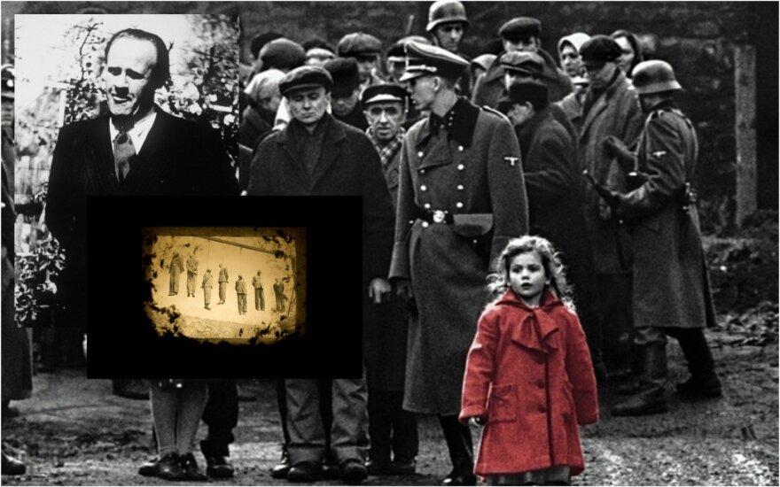 """Oskaras Schindleris, kadras iš filmo """"Šindlerio sąrašas"""""""