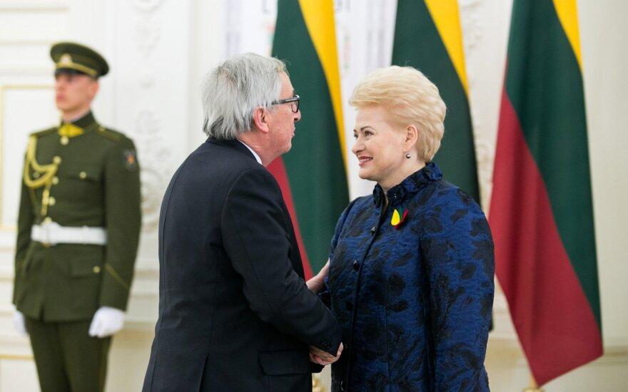 Jeanas Claude'as Junckeris ir Dalia Grybauskaitė