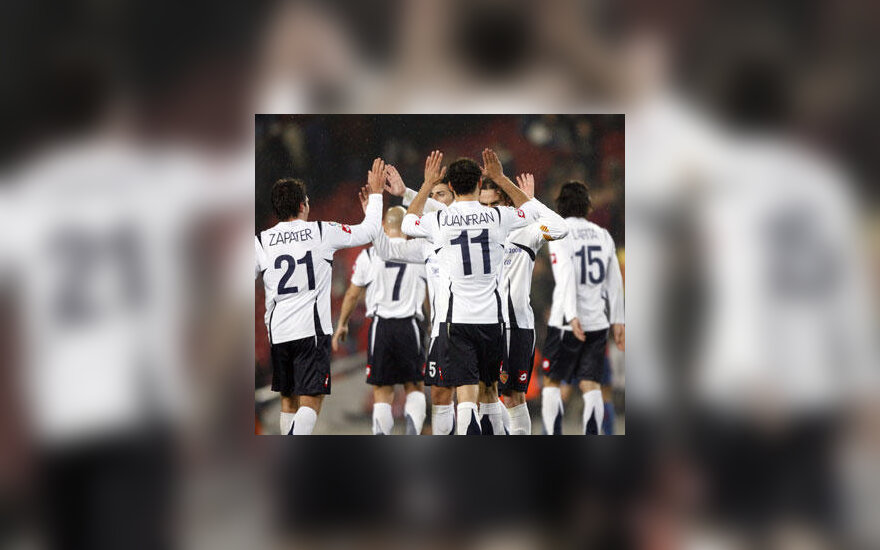 """Saragosos """"Real"""" futbolininkai švenčia pergalę"""