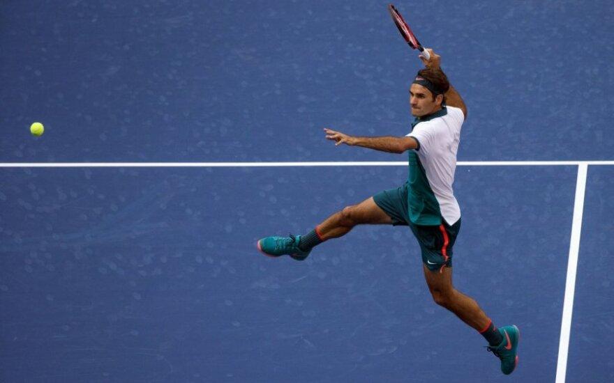 """""""US Open"""" turnyre – E. Gulbio trauma ir R. Federerio klasė"""