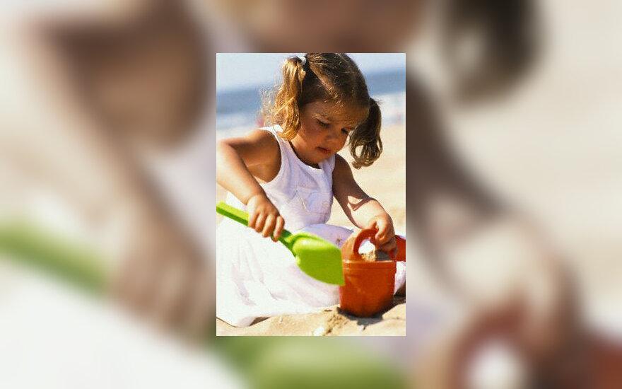 Paplūdimys, vaikas