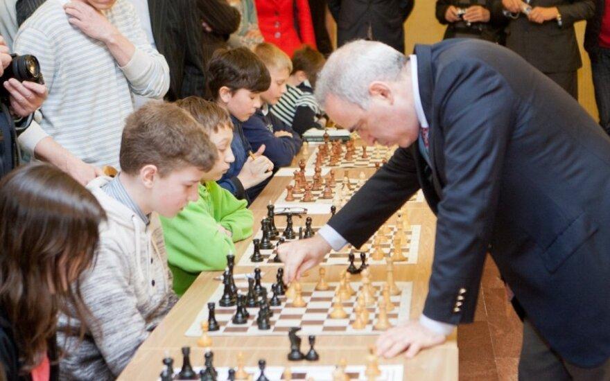 12-metis vilnietis sužaidė lygiosiomis su pačiu G. Kasparovu