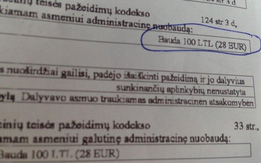 Administracinio teisės pažeidimo protokolas
