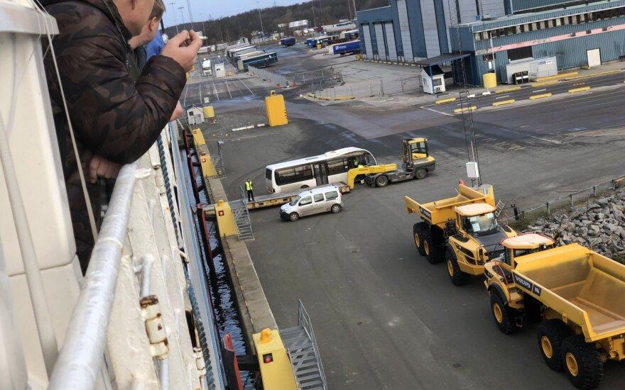 Švediją pasiekę kelto keleiviai tapo gedimo įkaitais