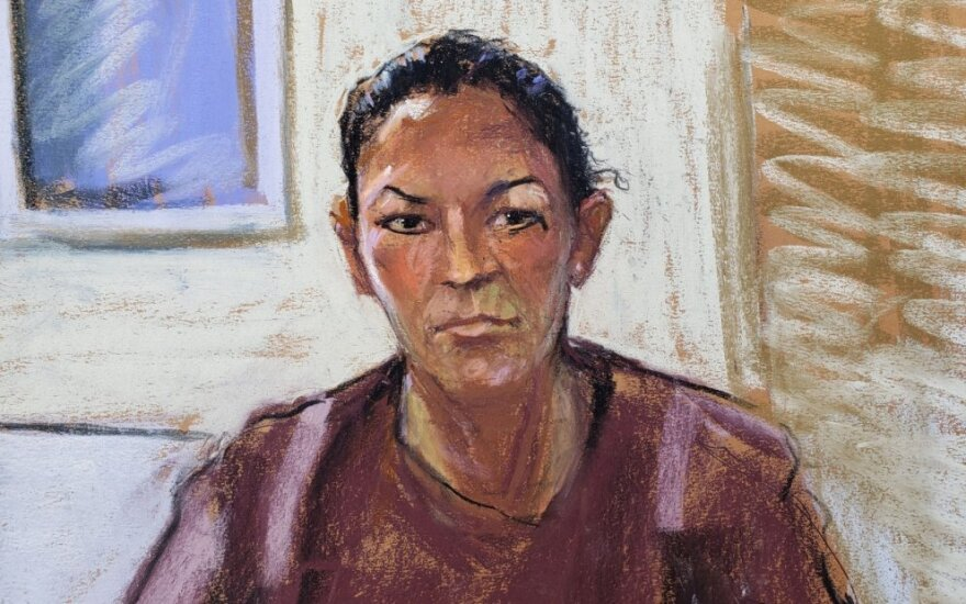 Ghislaine Maxwell portretas teismo salėje