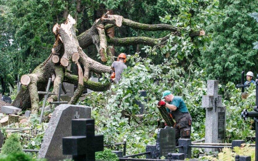 Škvalo Žemaitijoje žala siekia dešimtis tūkstančių eurų