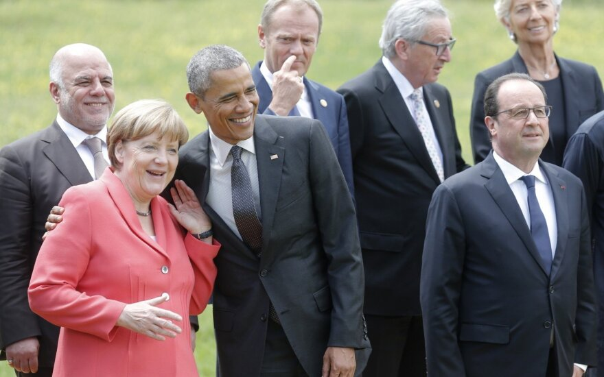 Angela Merkel, Barackas Obama, Donaldas Tuskas, Jeanas-Claude'as Junckeris, Francois Hollande'as