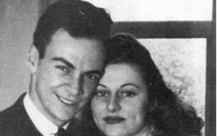 Richardas Feynmanas su žmona