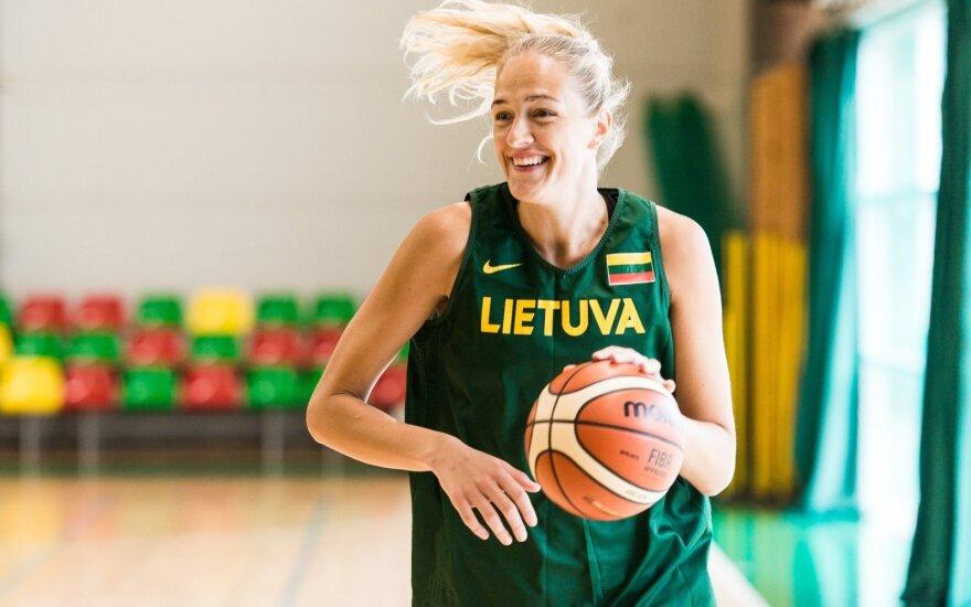 Lietuvos moterų krepšinio rinktinės treniruotė / FOTO: Linas Žemgulis