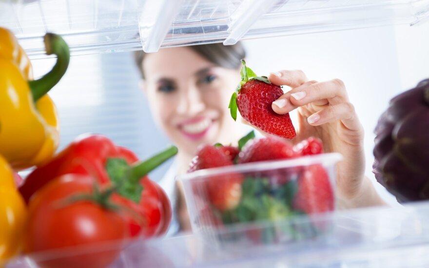 Maisto produktai šaldytuve