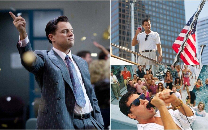 """Leonardo DiCaprio filme """"Volstryto vilkas"""""""