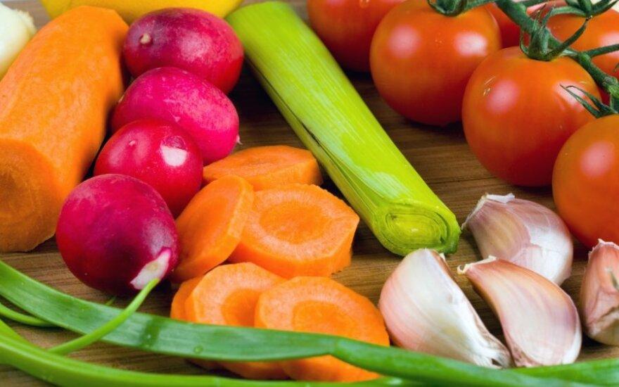 Kiek vitaminų turi skirtingos daržovės