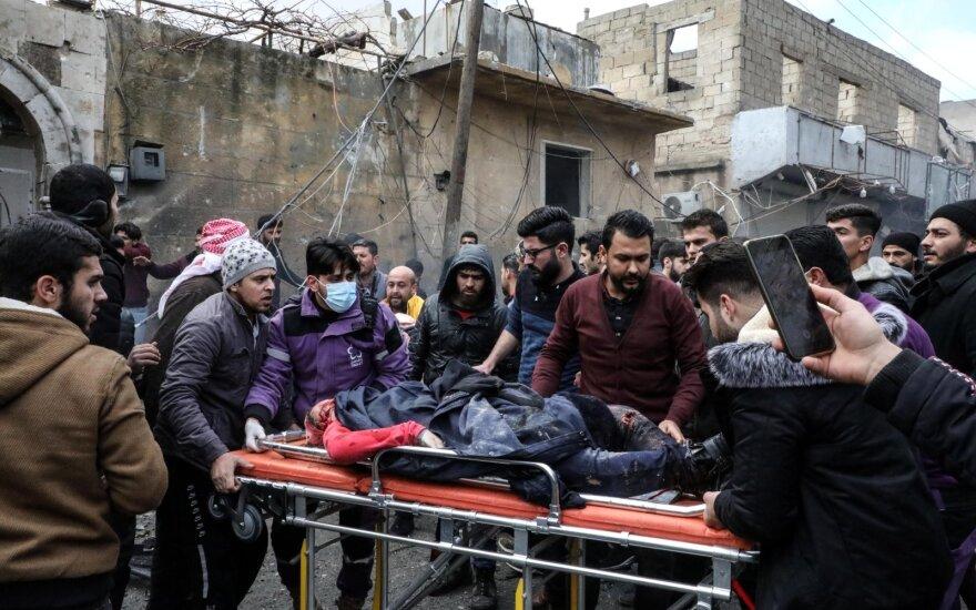 Sirijos šiaurėje per du sprogdinimus žuvo 12 žmonių