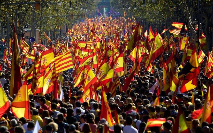 pro-Spanish unity protest in Catalonia