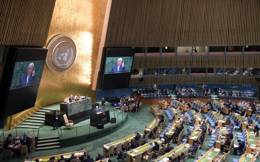 JT Generalinėje Asamblėjoje blokuotos Saudo Arabijos ir Rusijos rezoliucijos dėl COVID-19
