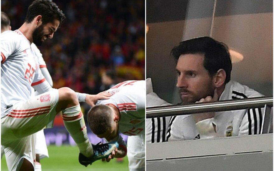 Isco, Sergio Ramosas ir Lionelis Messi
