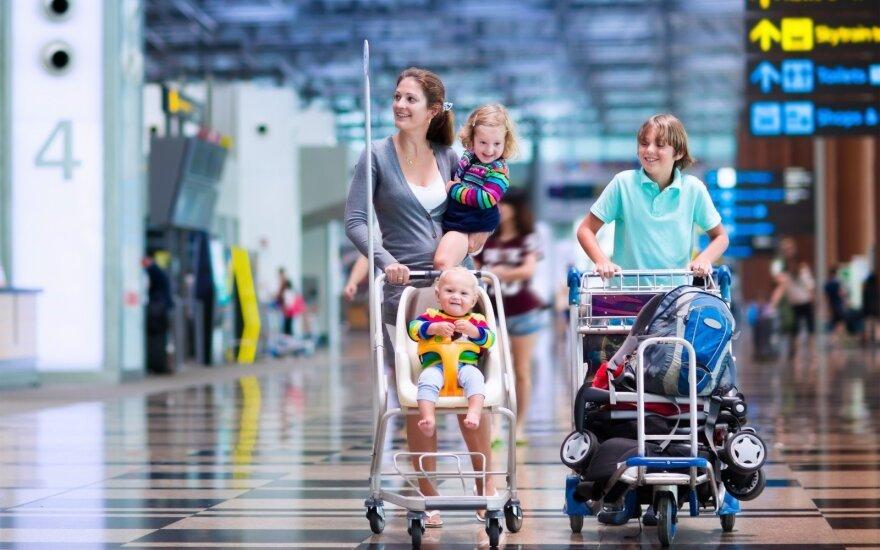 Oro uostuose – privilegijos šeimoms, apie kurias žino ne visi