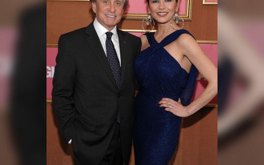 Michael Douglas ir Catherine Zeta-Jones