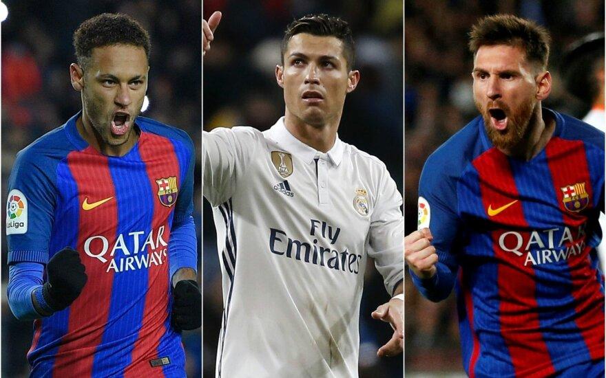 Neymaras, Cristiano Ronaldo, Lionelis Messi