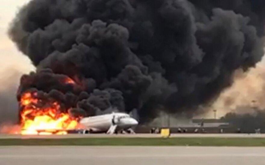 Lėktuvo gaisras Maskvoje