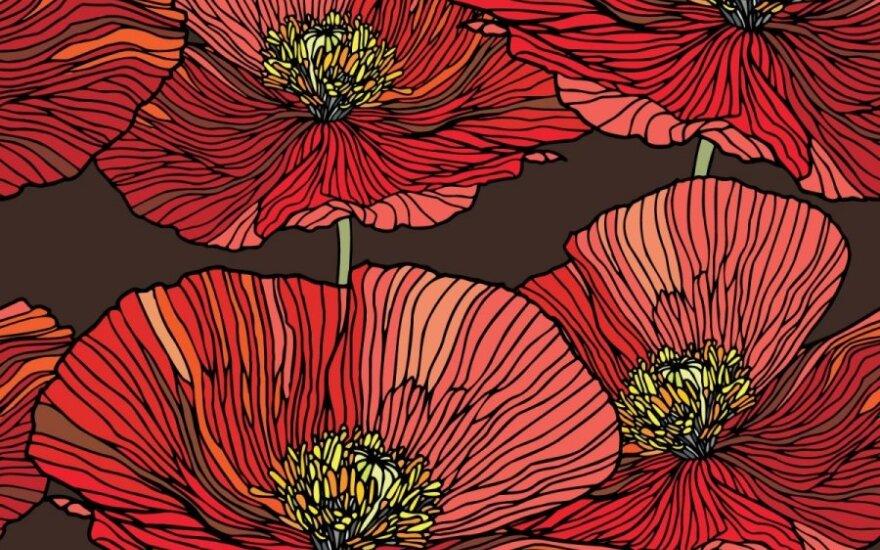 Gėlių motyvai ir jų reikšmė namų tekstilėje