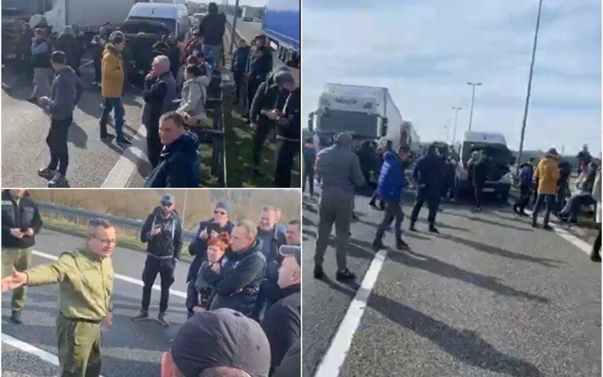 Lietuviai prie Vokietijos ir Lenkijos sienos žada blokuoti kelią.