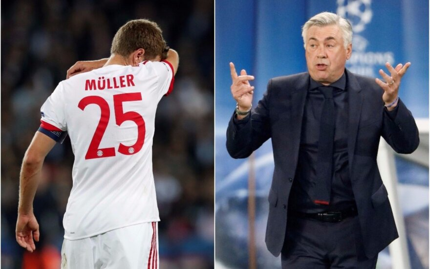 Thomas Mulleris ir Carlo Ancelotti