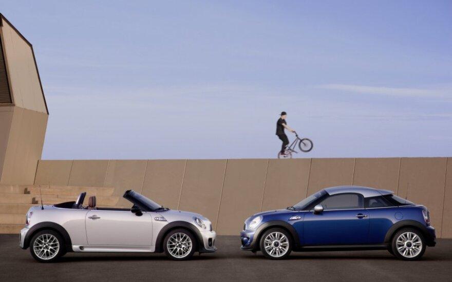 Mini Coupe ir Roadster