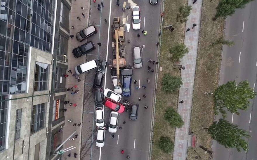 Masinė avarija Kijeve. STOP kadras