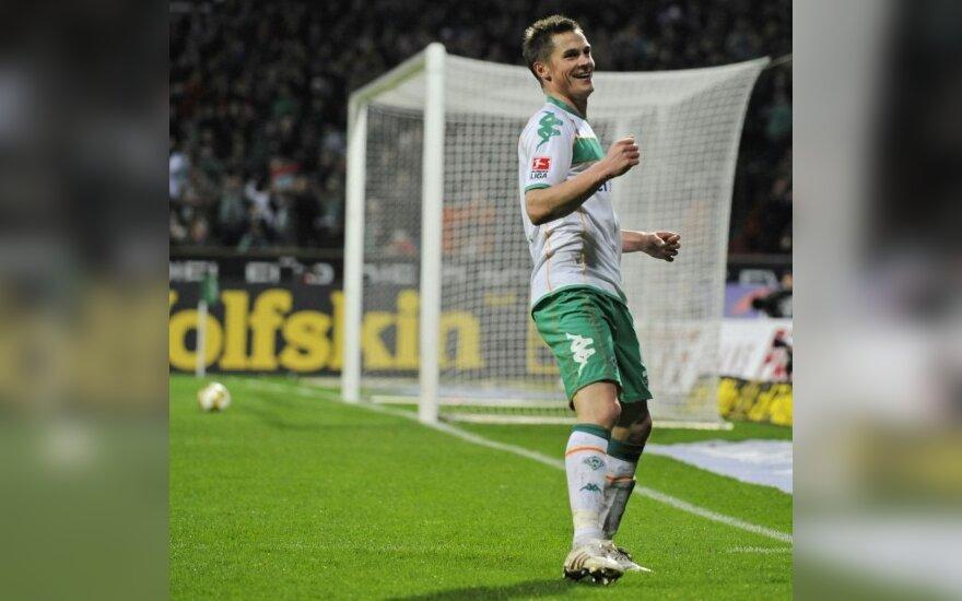 """Triuškinanti """"Werder"""" pergalė Vokietijoje"""
