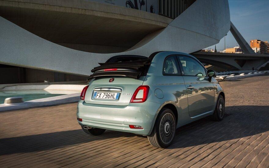 """Fiat"" Europoje pristato hibridinius 500 modelius"
