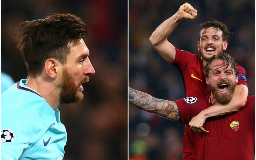 Lionelis Messi ir Roma žaidėjai