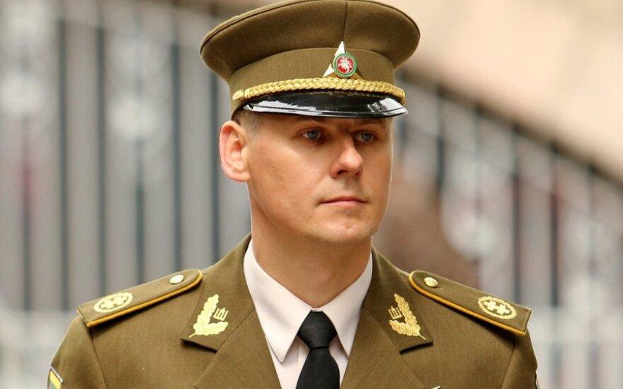 Commander of the Lithuanian Riflemen's Union Retired Lieutenant Colonel Liudas Gumbinas
