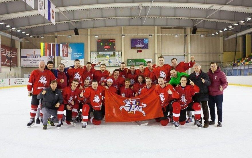 Lietuvos ledo ritulio rinktinė Baltijos taurėje liko trečia