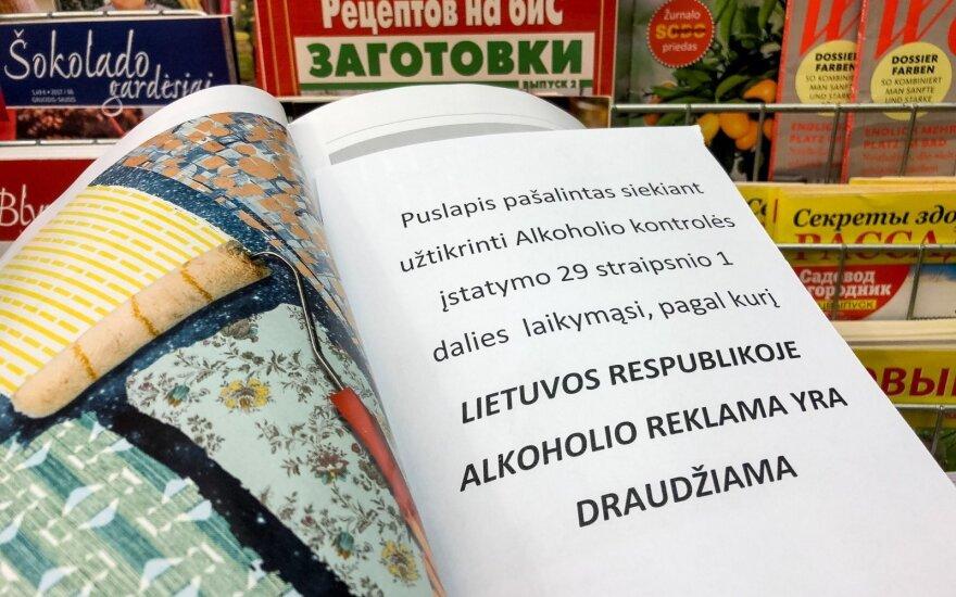 Departamentas spręs, ką daryti dėl akoholio reklamos užsienio leidiniuose