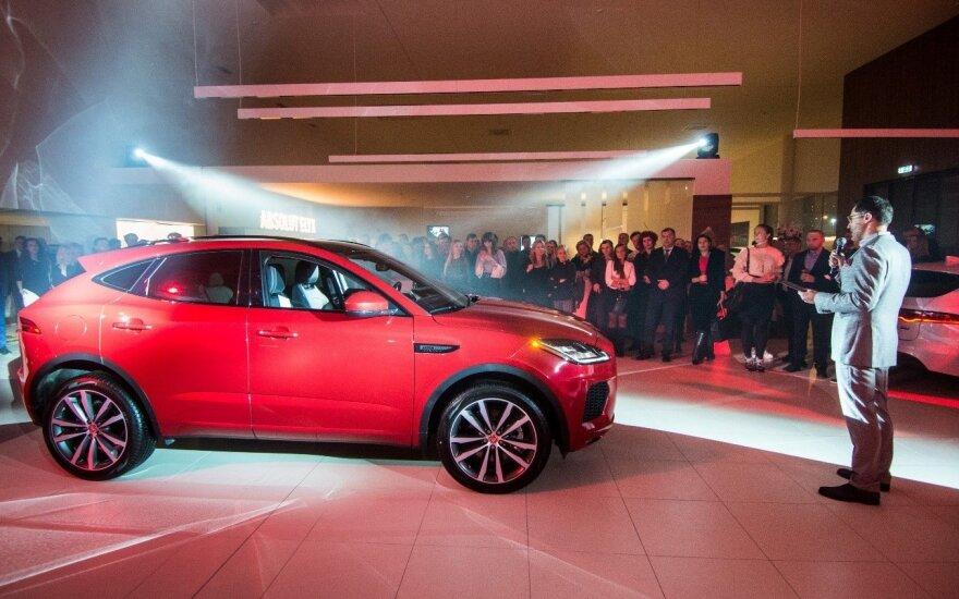 """Išankstinei premjerai į Vilnių atvyko naujas """"Jaguar E-Pace"""""""