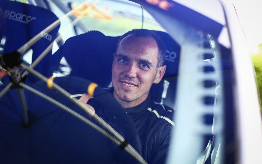 """""""RR Team"""" ekipažo pilotas R. Šeinauskas: ralis buvo itin greitas, pakankamai sunkus ir klastingas"""