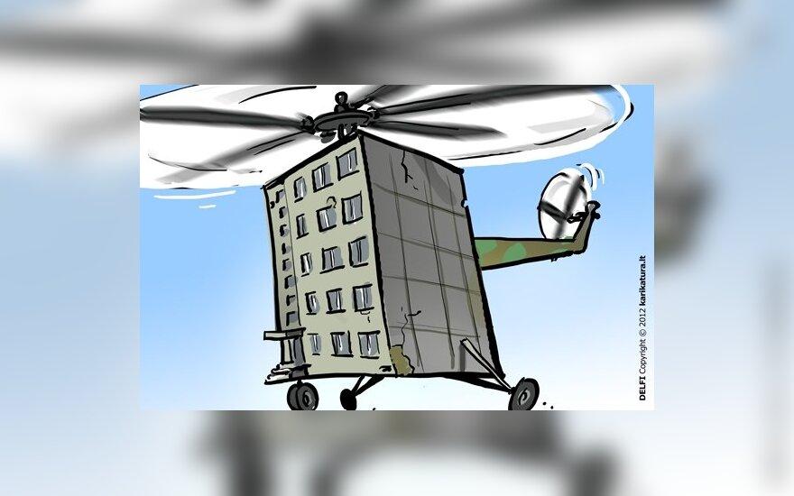 Šilumą išskraidins sraigtasparniai
