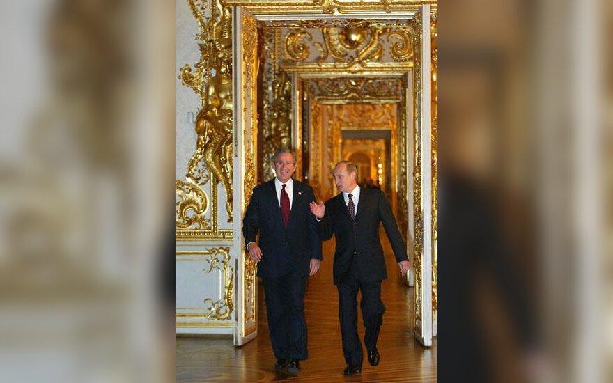 V.Putinas ir G.W.Bushas