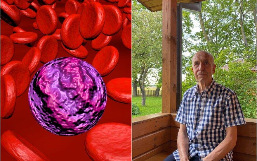 Juozas Andziulis susirgo Valdenštremo makroglobulinemija.